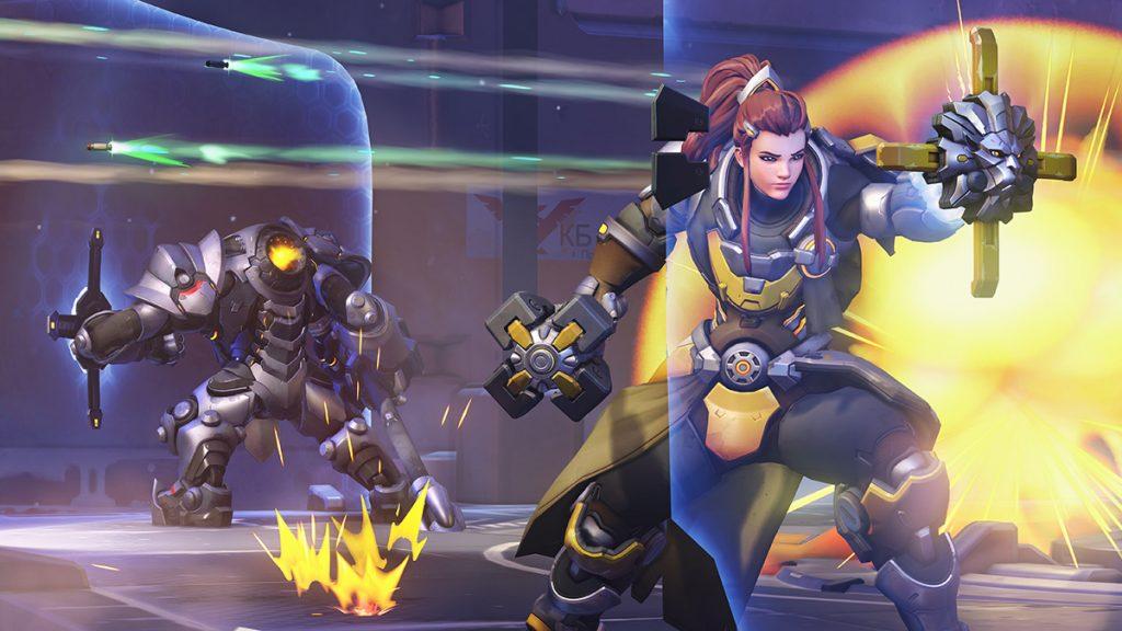 Ashe, Reaper, Reinhardt, and Brigitte make up the Week 14 Hero Pool. (Image via Blizzard Entertainment)