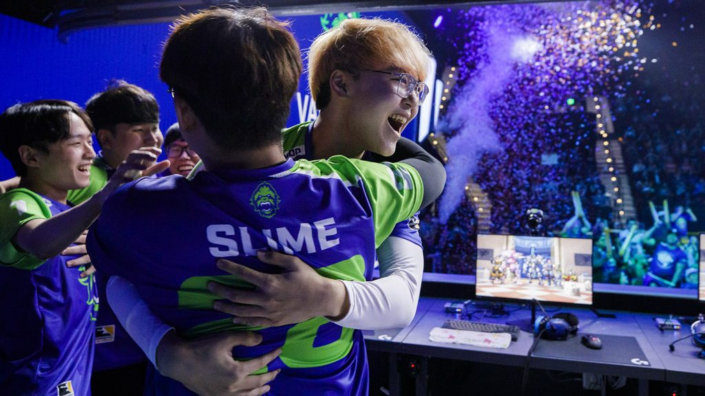 """I thought that the Seoul Dynasty is the team that is closest to my goal, winning the championship,"" Slime explained. (Photo via Robert Paul for Blizzard Entertainment)"