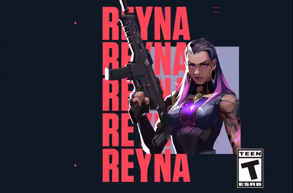 Reyna appears to be some type of psychic vampire, with the ability to absorb eliminated enemy souls (Image via Riot Games)