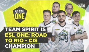 Team Spirit Go Flawless to Win Road to Rio CIS