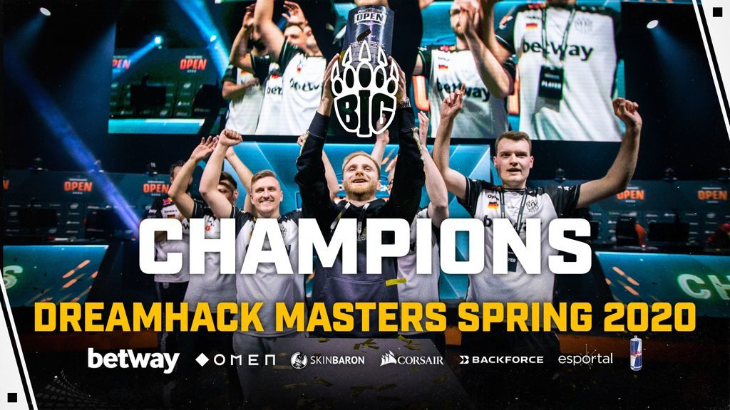 BIG have pulled off a historic reverse sweep to earn the DreamHack Masters Spring title (Image via BIG)