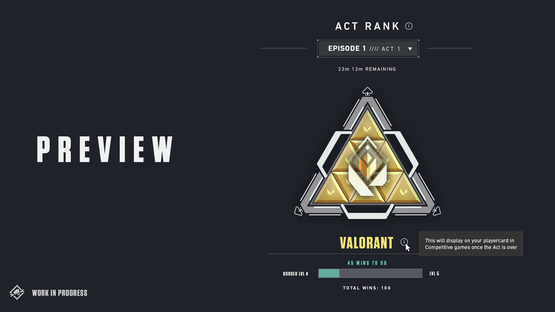 VALORANT preview act rank