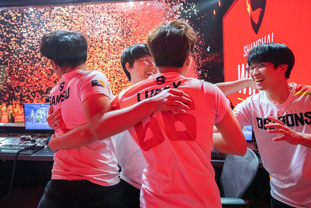 The Shanghai Dragons claimed their second title of the year with a dominant showing in the Countdown Cup (Photo Courtesy via Robert Paul | Blizzard Entertainment)
