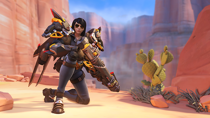 Changes to Pharah means she will be able to move more nimbly in the air but for a shorter period of time (Image via Blizzard Entertainment)