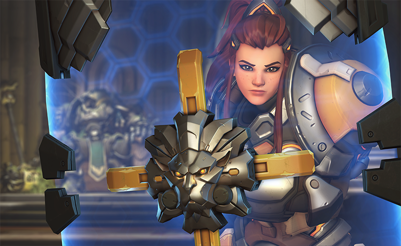 A significant decrease to Brigette's health is one of the several nerfs for the support (Image via Blizzard Entertainment)