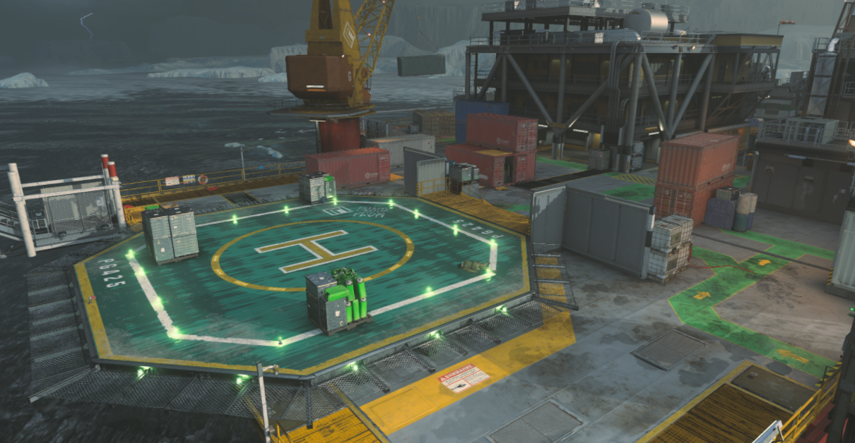 Crates and Helipad Petrov Oil