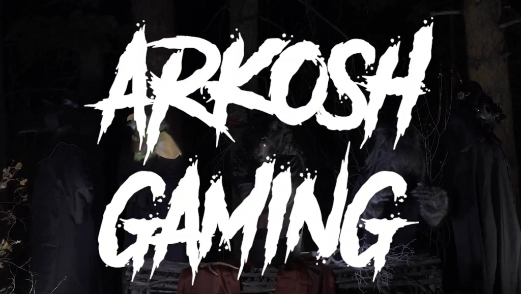 Arkosh Gaming was revealed today in a very loud heavy metal music video (Image via SirActionSlacks)