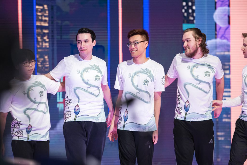 PowerOfEvil, WildTurtle, and Santorin have all said goodbye to FlyQuest this offseason. (Photo courtesy Yican Liu | Riot Games)