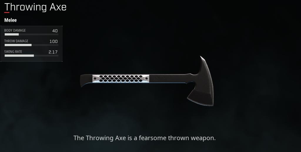 rogue company Throwing Axe