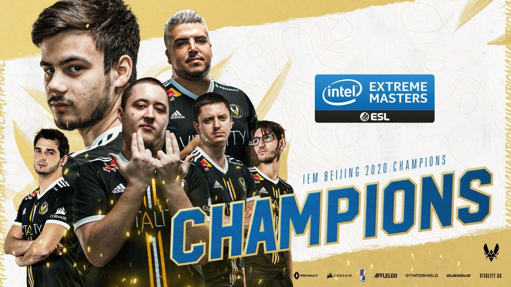 Vitality has completed a reverse sweep against Na'Vi to take their first title of 2020 at IEM Beijing (Image via Team Vitality)