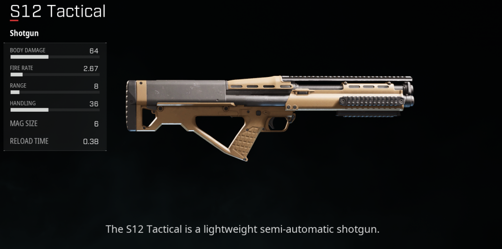 S12 Tactical Shotgun Sigrid