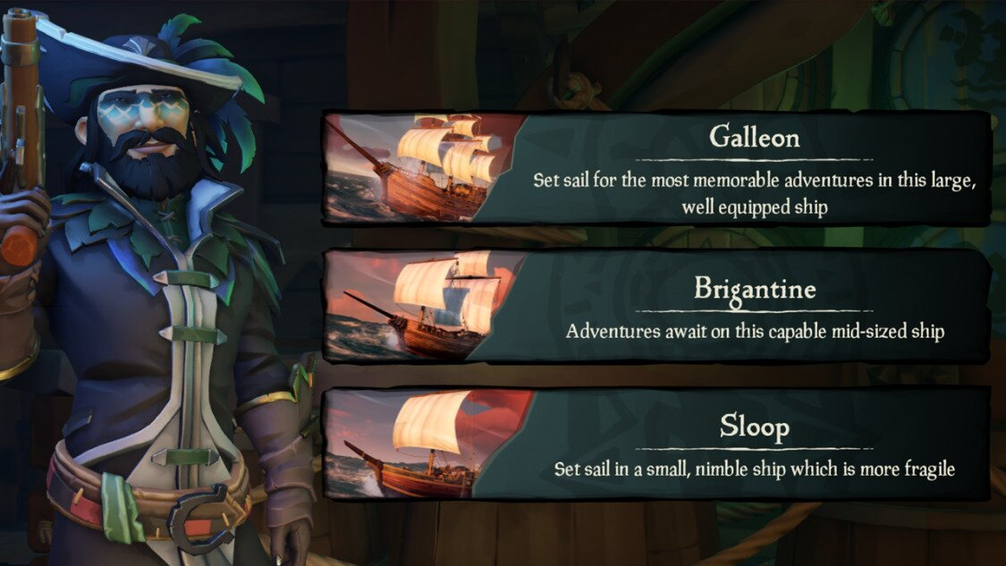 Ships in Sea of Thieves