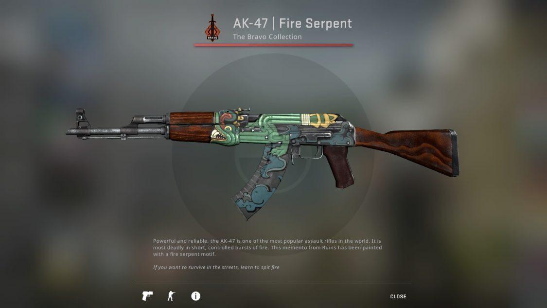 Fire serpent AK CSGO