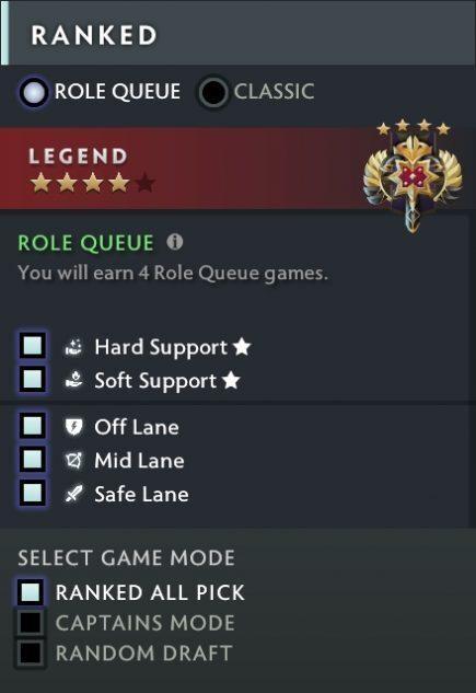 Dota 2 Ranks Role Queue